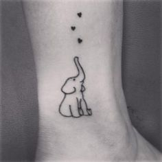 small cute elephant tattoos - Google Search