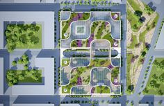 """Vincent Callebaut Proposes """"Wooden Orchids"""" Green Shopping Center for China"""