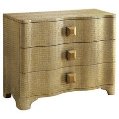 3-drawer chest with a textured finish and chunky square hardware.    Product: ChestConstruction Material: Engineere...