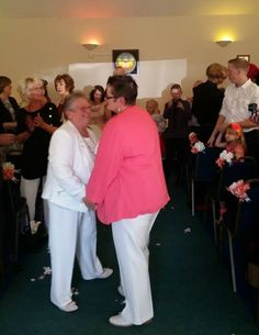 """""""The way the church has embraced our relationship has been truly heart-warming."""" http://www.pinknews.co.uk/2014/09/07/spiritualist-church-holds-first-same-sex-wedding/"""