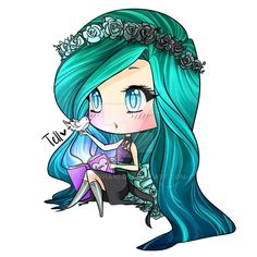 Pastel Goth Chibi for Lynn by fa11enha1o.deviantart.com on @DeviantArt