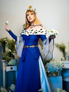Aurora cosplay based on the Historically Accurate Disney Princess illustrations