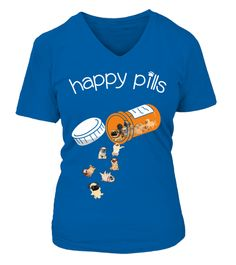 Pug Happy Pills Pug dog T-shirt