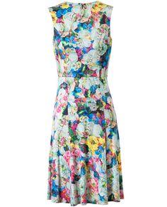 ERDEM   'Brennon' Floral Printed Stretch Jersey Dress