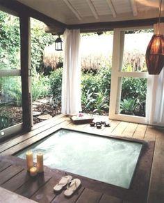 indoor hot tub - am I dreaming?