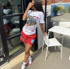 Swag Outfits For Girls, Teenage Girl Outfits, Chill Outfits, Cute Swag Outfits, Cute Comfy Outfits, Dope Outfits, Teen Fashion Outfits, Retro Outfits, Tomboy Fashion