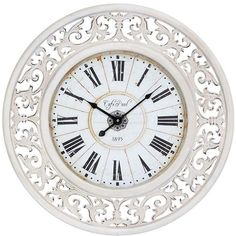 Extra Large Baroque Wall Clock 23 Quot Wide White Cottage