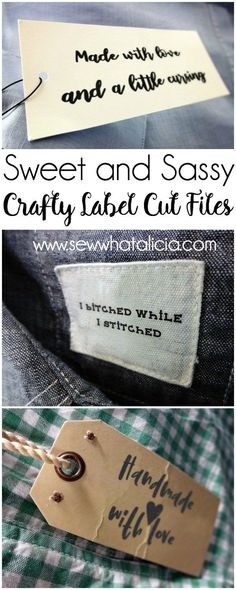 8 Crafty Handmade Labels Cut Files: These handmade files are perfect for adding some customization to your handmade project. Grab the free cut files to print or use with your cutting machine. Click through for all the files and instructions for use. | www