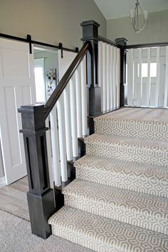 Cheap Carpet Runners For Stairs Referral: 8149098664 Grey Stair Carpet, Stairway Carpet, Patterned Stair Carpet, Diy Carpet, Rugs On Carpet, Wall Carpet, Beige Carpet, Cheap Carpet, Carpet For Stairs