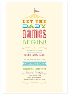 Cute baby shower invitations in minted
