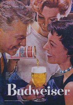 1950s Budweiser Beer Ad 1957 Vintage Advertisement by AdVintageCom