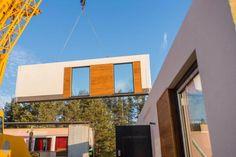 Realizacje - Balker - Producent domów prefabrykowanych. Domy z keramzytu A Frame House Plans, Metal Roof, Decoration, Multi Story Building, Fair Grounds, Living Room, Decor, Decorations, Decorating