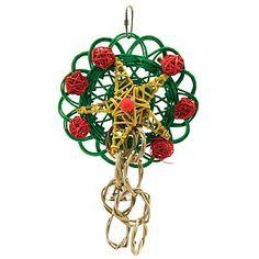 Vine Mat Wreath - Christmas Parrot Toy
