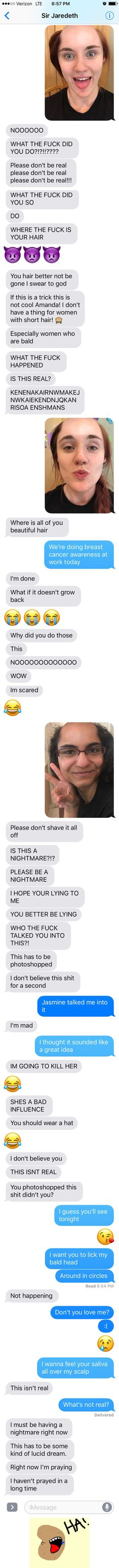 This Girl Pranked Her Boyfriend With A Bald App Doesn't Count on Response Like This