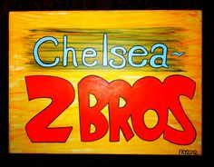 "Also in 2012, I befriended an interest in Art from the good people of the ""2 Bros."" Pizza Establishment at the intersection of 6th Avenue and 25th Street in New York City.    This is the first of three paintings that now hang on permanent 24/7 public display at that location."