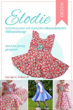 Drehkleid Elodie ist das ideale Einschulungskleid, ob bunt oder festlich... als Ebook und Papierschnitt erhältlich.. bei farbenmix