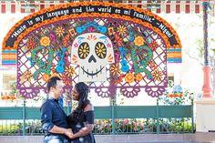 Coco decor for the Day of the Dead at Disney California Adventure Park.