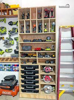 Storage Shed Organization, Tool Storage Cabinets, Garage Workshop Organization, Garage Tool Storage, Workshop Storage, Garage Tools, Organization Station, Workshop Design, Diy Workshop