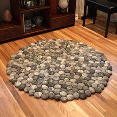 felt carpet supersoft pebbles - felt stone carpet, wool from sheep, lama, alpaka Stone Rug, Carpet Colors, Sheep Wool, Bath Rugs, Felt Art, Easy Diy Projects, Rugs On Carpet, Etsy, Wool Rug