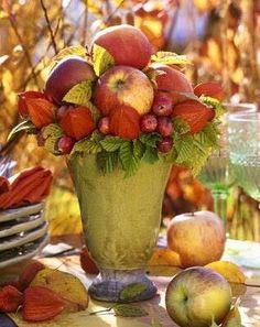 centrotavola d'autunno
