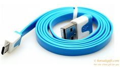 Hot sale colorful noodles data cable for HTC Samsung BlackBerry phones gift