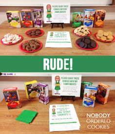 """How To Sell More Girl Scout Cookies - Part Two. TIP: Don't waste your daughter's time trying to sell them at school. It's not worth the disappointment when her favorite teachers tell her """"No"""" because they've bought from someone else. Even samples don't make a difference (unless just the staff at this school are exceptionally rude)."""
