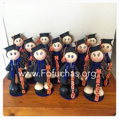 fofucha dolls make one of a kind and lovely graduation centerpieces. Can be customized. Order yours today! #GraduationCenterpiece #ClassOf2015 #GraduationParty