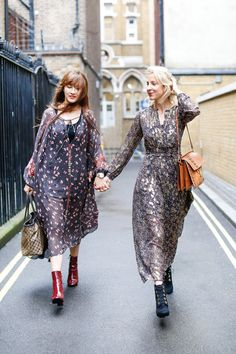 London Fashion Week Outfits - Belle & Bunty  fashion week, London, outfits, bloggers, fall, boho, dresses, jackets, booties, handbags