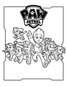 Paw Patrol Chase Ausmalbilder | Ausmalbilder | Pinterest ...