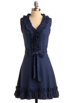 Navy Notion Dress | Mod Retro Vintage Dresses | ModCloth.com - StyleSays