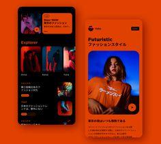 Street Fashion Magazine by Song Hojong Ui Design Mobile, App Ui Design, Interface Design, Web Layout, Layout Design, App Design Inspiration, Application Design, Ui Web, Wireframe