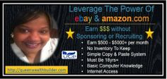 If you have struggled to earn income on-line, struggle no more... Learn how our team is earning income online without recruiting. Just a simple formula of copying and pasting on Ebay!