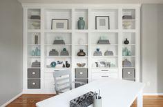 Встроенный книжный шкаф из ИКЕА