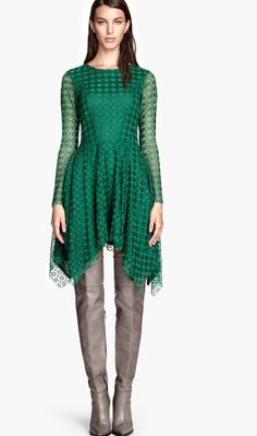 H&M Trend Green Lace Dress