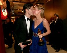 Oscars 2016: Best Dressed Couples - Brie Larson and Alex Greenwald-Wmag