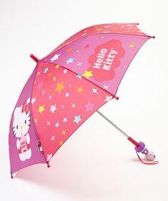 Another great find on #zulily! Pink & Purple Hello Kitty Umbrella #zulilyfinds