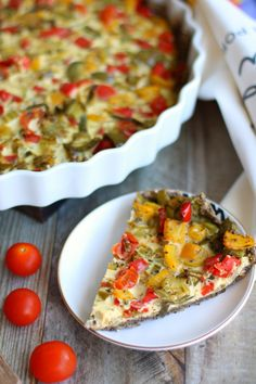 Quiche Lorraine, Vegetable Pizza, Recipies, Paleo, Food And Drink, Vegetables, Breakfast, Pink, Blog