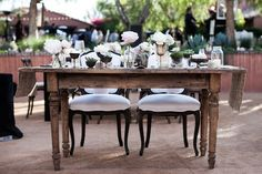 Sweet Heart Table at Southern California Wedding with Found Vintage Rentals, Swellegant, and Inviting Occasion