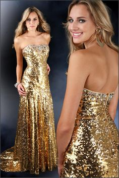 Gold Sequin Prom Dress | Gold | Pinterest | Cas, Prom dresses and ...