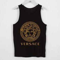 versace logo gold tank top by billibongtank on Etsy