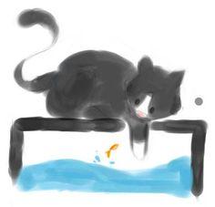 Thaluan Esgalha. #CatArt #Cat