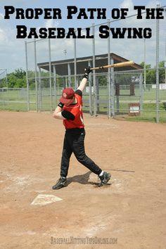 Proper Path of the Baseball Swing #baseball #sports