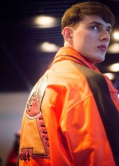 Baseball laced jacket backstage at Kenzo AW15 PFW. See more here: http://www.dazeddigital.com/fashion/article/23370/1/kenzo-aw15