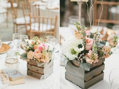 18 Non Mason Jar Rustic Wedding Centerpieces You've Got To See! ~ we ❤ this! moncheribridals.com