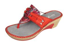 Alegria Lola Red Bloom Sandal - now on closeout! | Alegria Shoe Shop | Serious Comfort. Serious Personality.