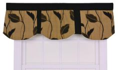 Ellis Curtain Riviera Large Scale Leaf and Vine Imperial Valance Window Curtain, Coffee by Ellis Curtain. Save 10 Off!. $26.88