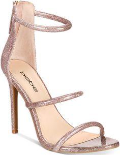 82f26102353b bebe Berdine Ankle-Strap Dress Sandals Women s Shoes. An understated  triple-strap design