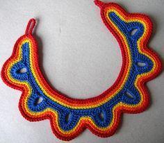 Aproveita a tendência dos maxi colares e faça o seu! Esse usa a técnica do crochê e a Linha Duna da Circulo!