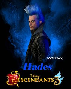 Hades, the first Veteran Villain to have a change of heart. Descendants Wicked World, Descendants Characters, Disney Channel Descendants, Descendants Cast, Dove Cameron, Hades Disney, Cheyenne Jackson, Cheverny, Arte Disney