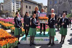transavia.com dona 60.000 tulipanes a Barcelona